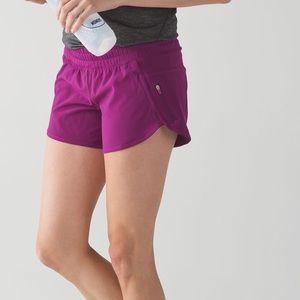 Lululemon fuchsia purple tracker running shorts 4